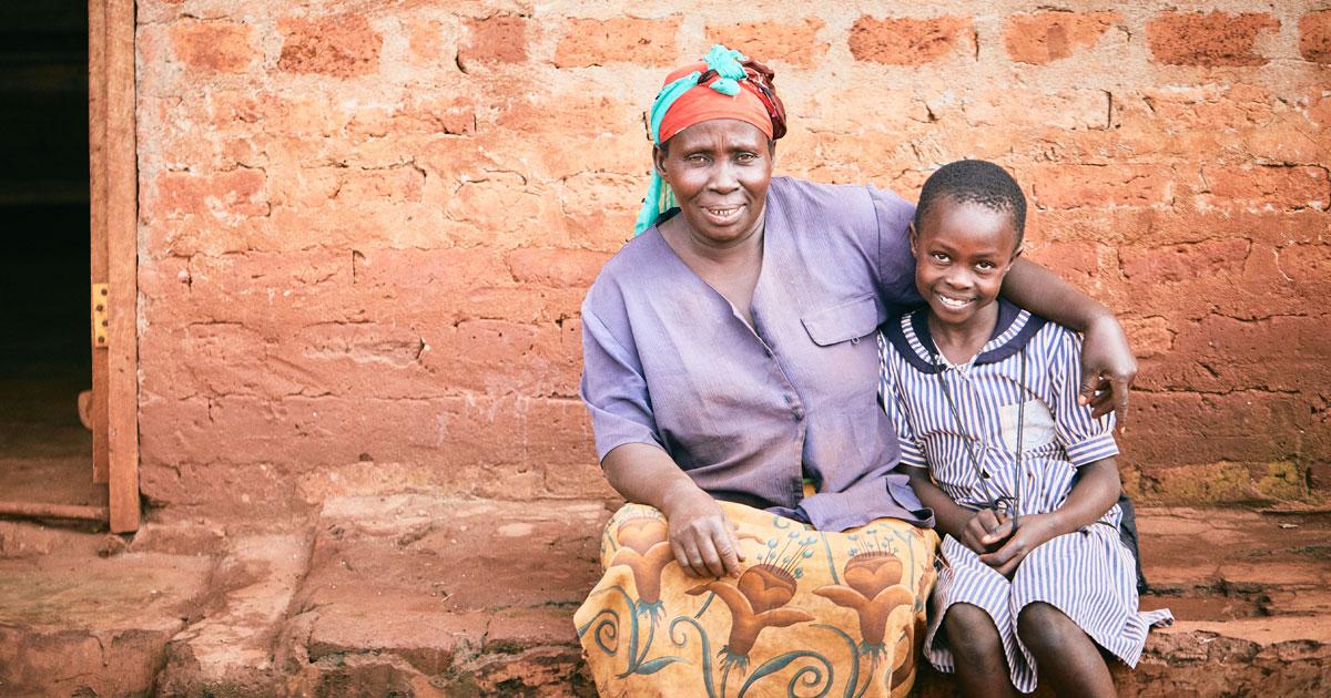 Barbara and her mum Jacinta from Uganda