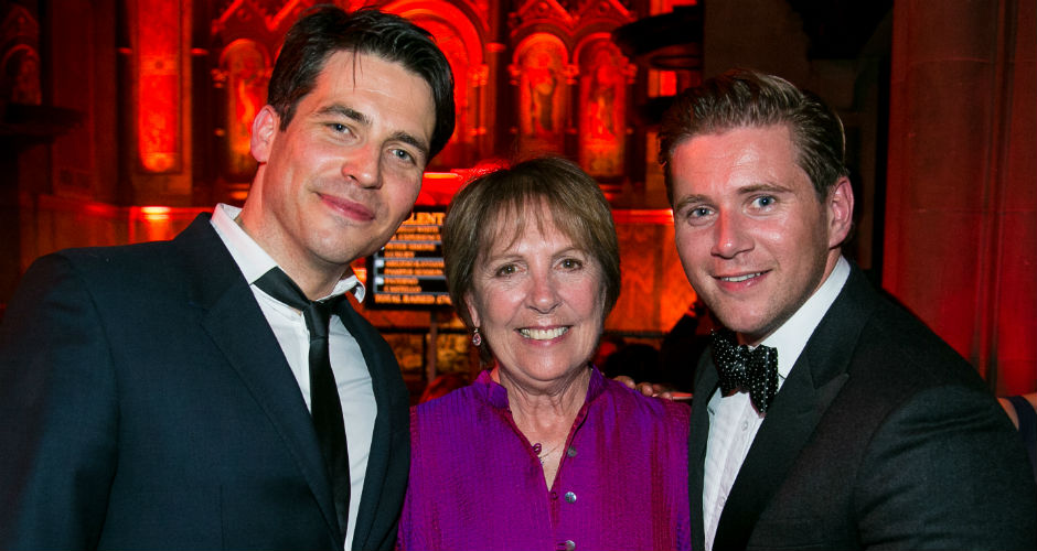 Downton Abbey stars Rob James-Collier, Penelope Wilton and Allen Leech at the Build Africa Ball © Fireball Ltd