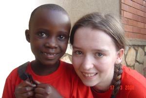 Charlene on a trip to Uganda in 2008