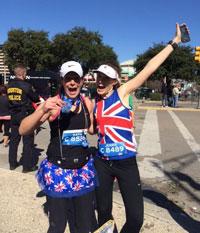 Katharine at the Houston Marathon