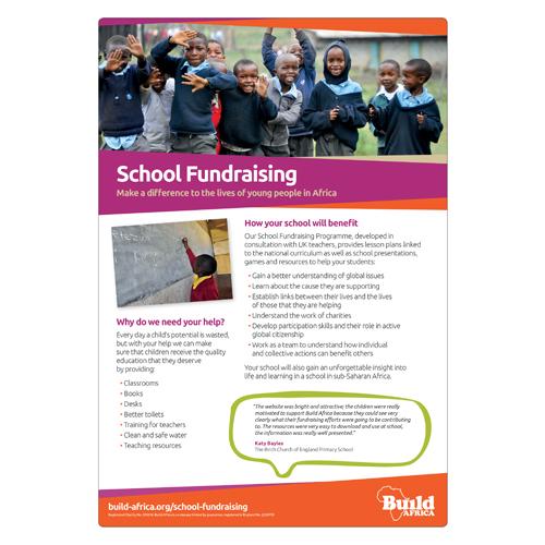 School Fundraising Leaflet