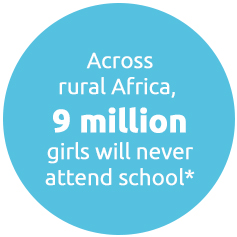 Across rural Africa, 9 million girls will never attend school