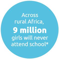 Across rural Africa, 9 million girls will never attend school