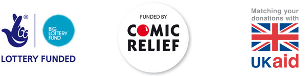 The Big Lottery Fund, Comic Relief, UK Aid Match