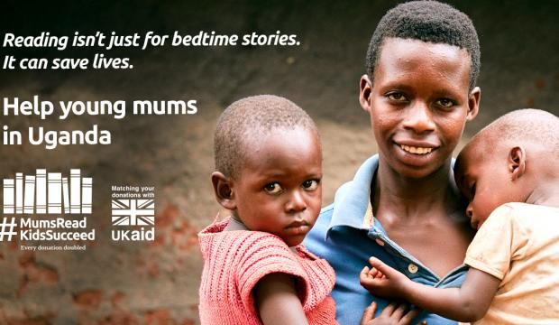 Our #MumsReadKidsSucceed appeal is backed by UK Aid Match.