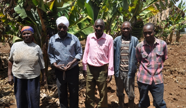 Officials of Chicofar Farmers Group in their farm
