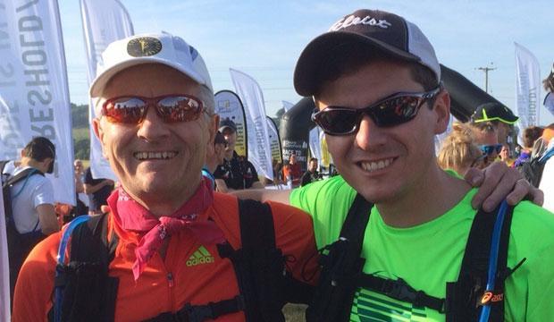 Richard Thomas (left) with son Matt at Race To The Stones 2015