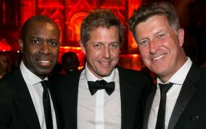 Clive Myrie, Hugh Grant and Jonny Gould at the Build Africa Ball