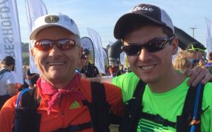 Richard Thomas (left) with son Matt at Race To The Stones 2015