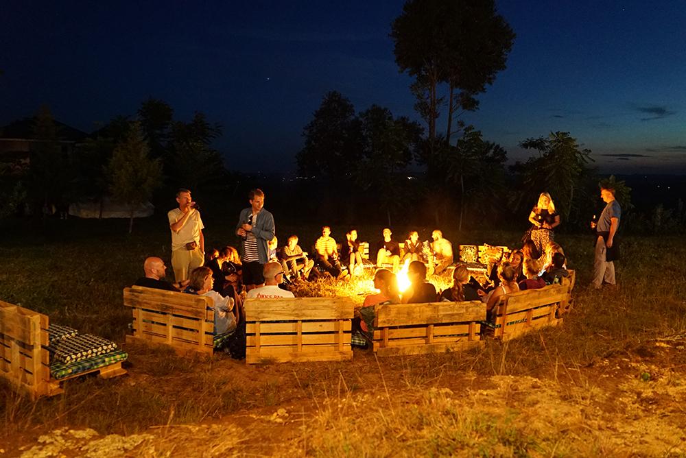 Uganda marathon campfire